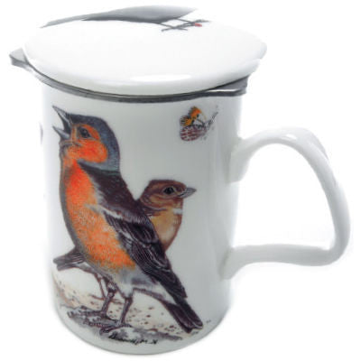 Roy Kirkham Garden Birds Lancaster Mug with Infuser