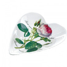 Roy Kirkham Redoute Rose Medium Heart Tray