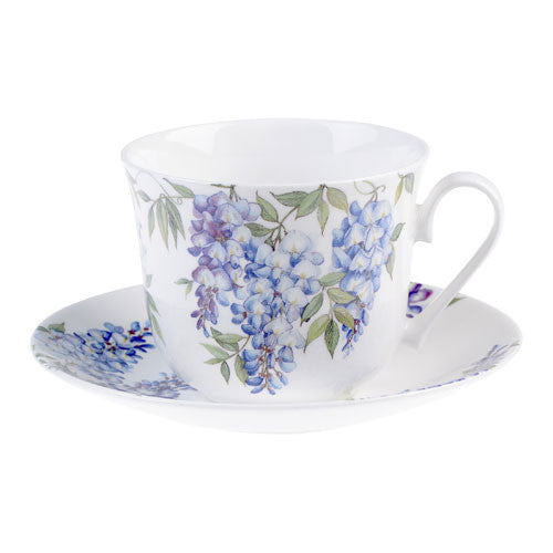 Roy Kirkham Wysteria Breakfast Cup and Saucer