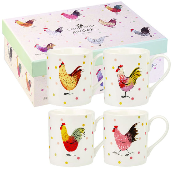 Alex Clark Rooster Larch Mug (Set of 4)