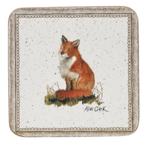 Alex Clark Wildlife Fox Coasters 10cm (Set of 6)