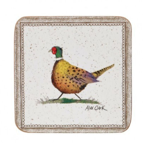 Alex Clark Wildlife Pheasant Coasters 10cm (Set of 6)