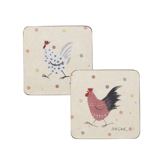 Alex Clark Rooster Coasters (Set of 4)