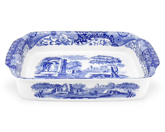Blue Italian Rectangular Dish 38cm by 30cm
