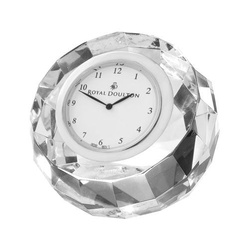 Royal Doulton Radiance Round Faceted Clock 7cm by 13cm