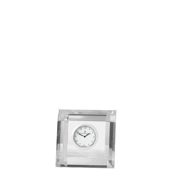 Royal Doulton Radiance Square Faceted Clock 7cm x 13cm