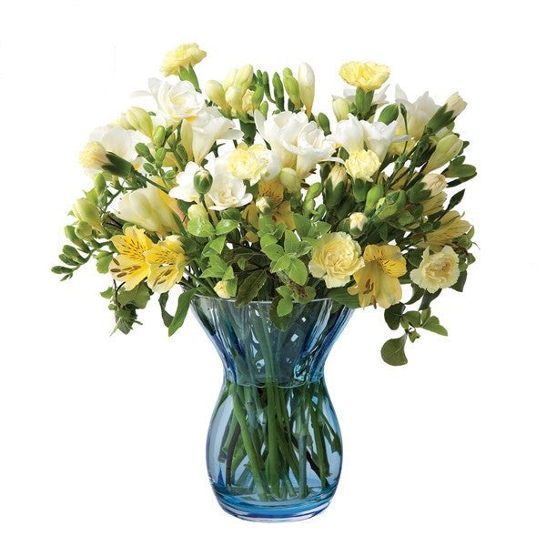Dartington Crystal Florabundance Colours Posy Aqua Vase