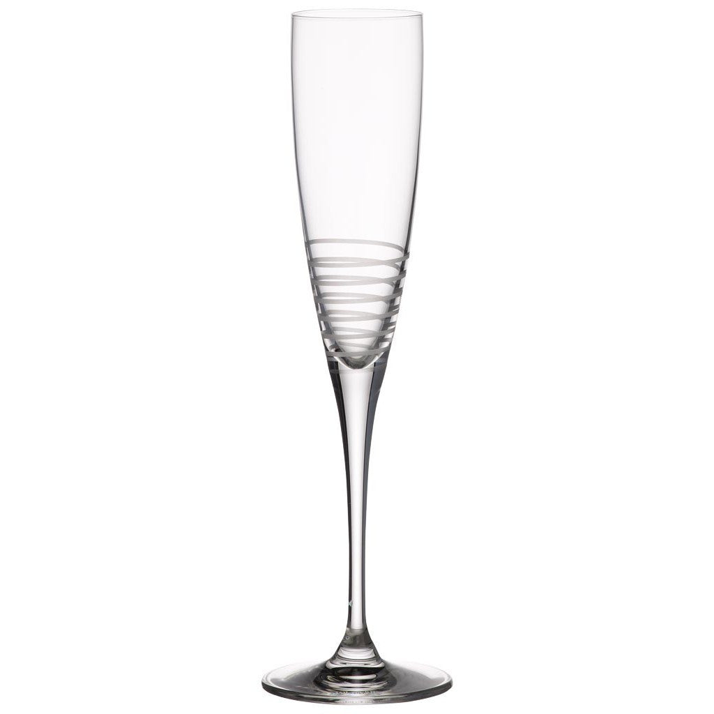 Villeroy and Boch Maxima Decorated Spiral Glass Champagne Flute 265mm