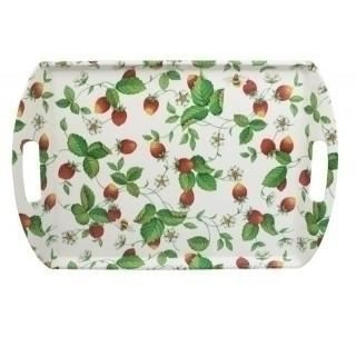 Roy Kirkham Alpine Strawberry Large Melamine Tray 46cm by 31cm