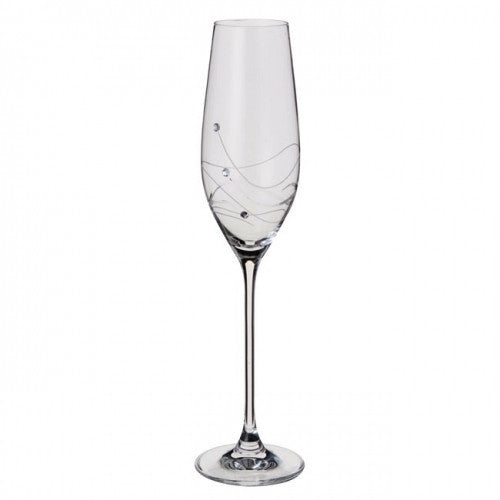 Dartington Crystal Glitz Champagne Flute 0.21L (Pair)