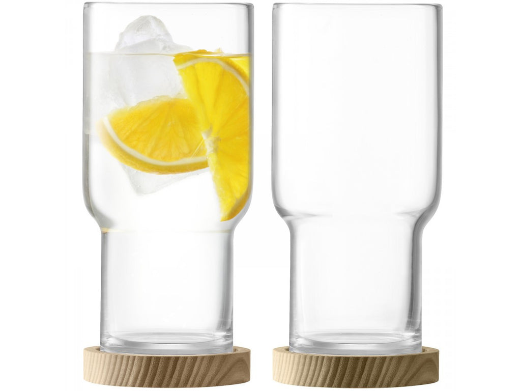 LSA Utility Highball Tumbler with Ash Coaster 0.39L (Pair)
