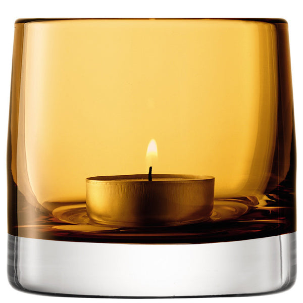 LSA Light Amber Tealight Holders 8.5cm