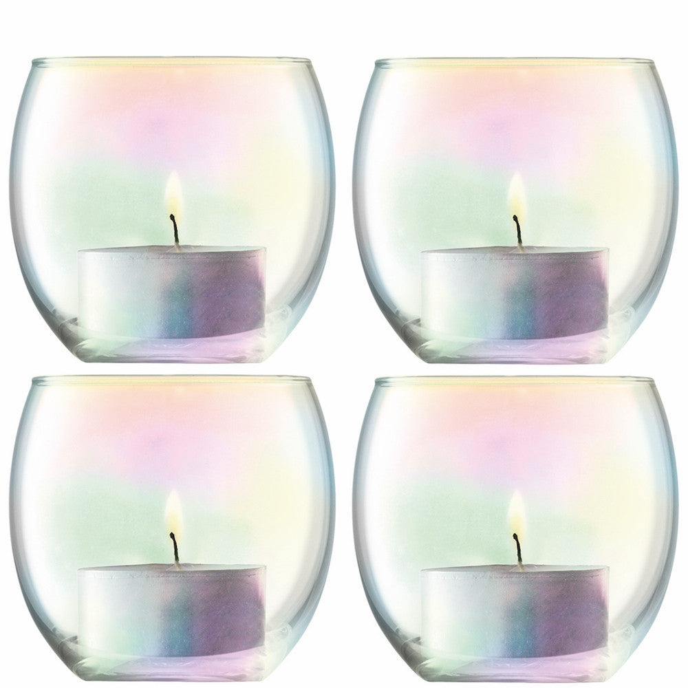 LSA Pearl Tealight Holder 6.5cm (Set of 4)