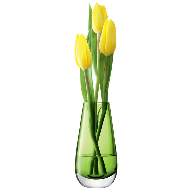 LSA Flower Colour Lime Bud Vase 14cm