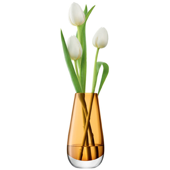 LSA Flower Colour Amber Vase 14cm