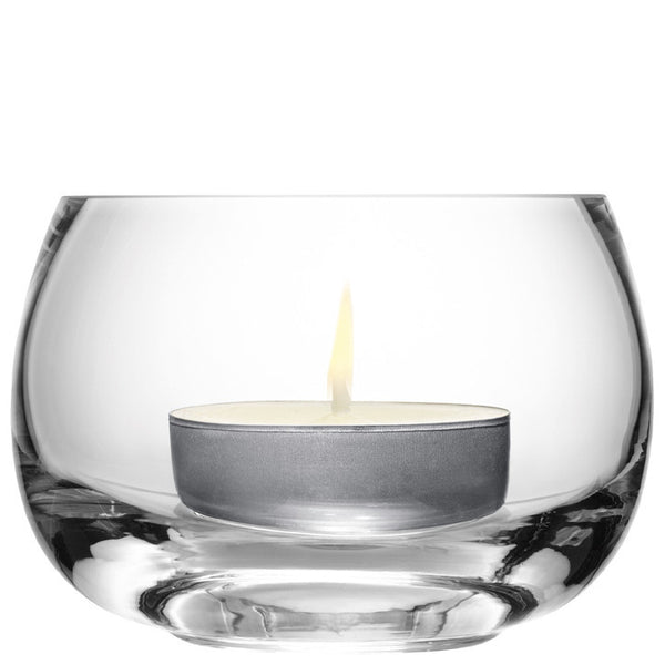 LSA Light Clear Tealight Holders 8cm