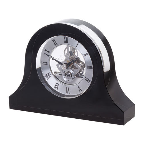 Dartington Crystal Black Mantle Clock