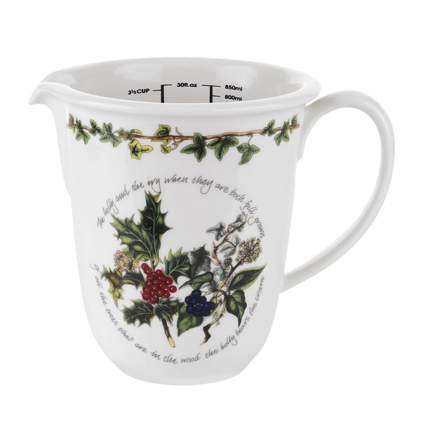 Portmeirion Holly And Ivy Measuring Jug 0.85L