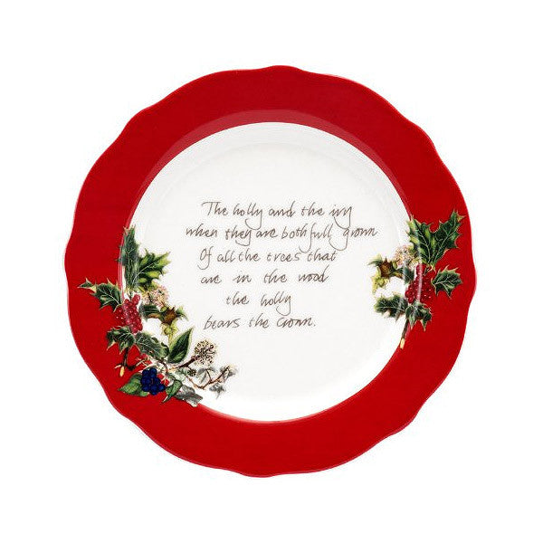 Portmeirion Holly And Ivy Red Border Tea Plate 15cm