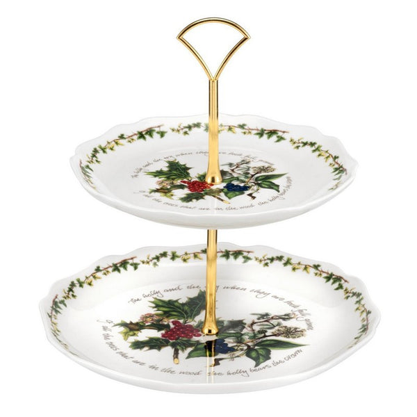 Portmeirion Holly And Ivy 2 Tier Cake Stand 25cm (HV78216-X)