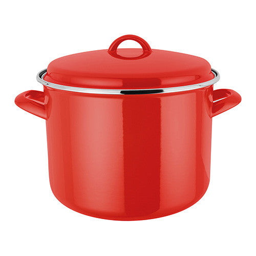 Judge Induction Red Stockpot 7.8L