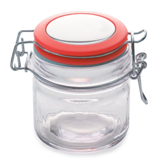 Maxwell and Williams Cosmopolitan Colours Clip Top Red Jar 100ml