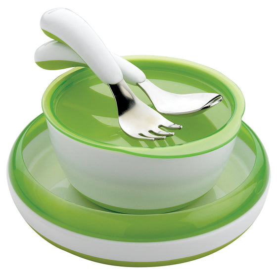 OXO Green 4 Piece Feeding Set