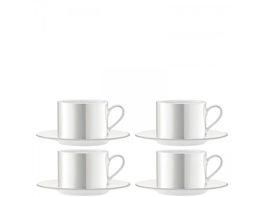 LSA Pearl Teacup and Saucer 0.25L (Set of 4)
