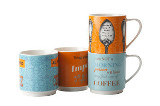 Maxwell and Williams Coffee Contemplation Mug 0.42L (Set of 4)