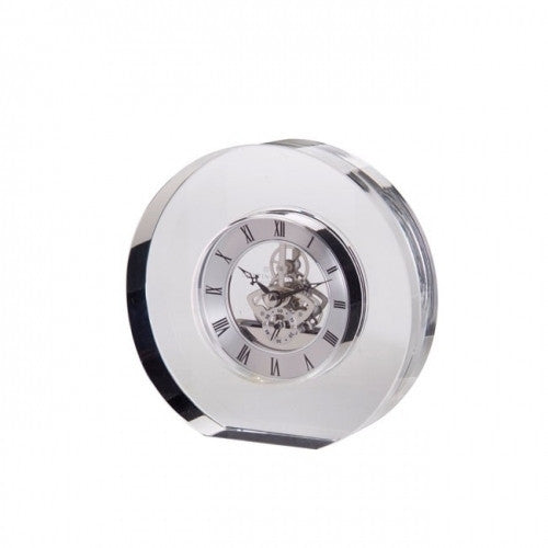 Dartington Crystal Clear Round Clock 15cm