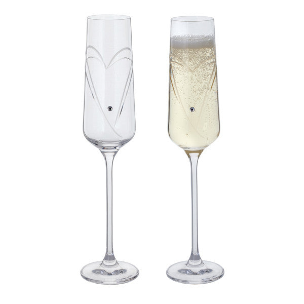 Dartington Crystal Romantic Champagne Flute Pair 0.15L