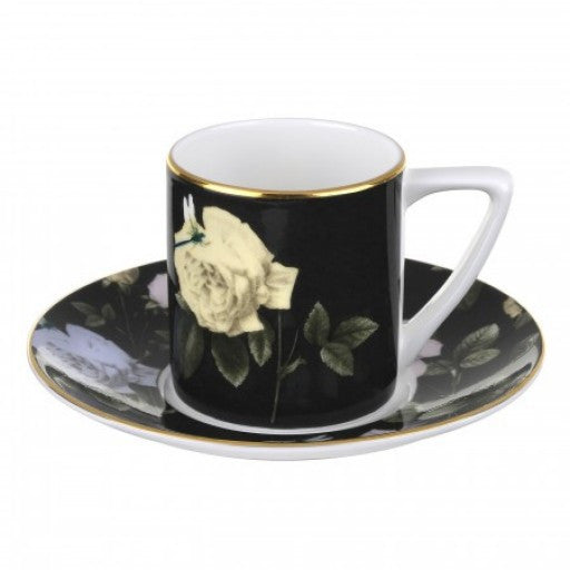 Portmeirion Ted Baker Rosie Lee Black Espresso Cup and Saucer 0.08L