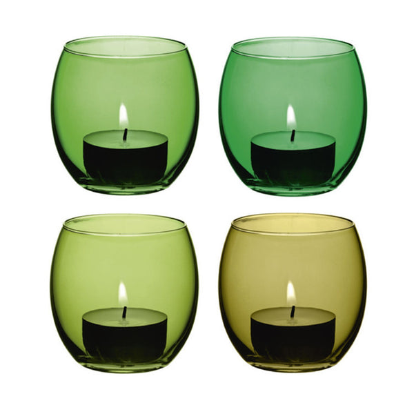 LSA Coro Leaf Tealight Holders 6.5cm (Set of 4)