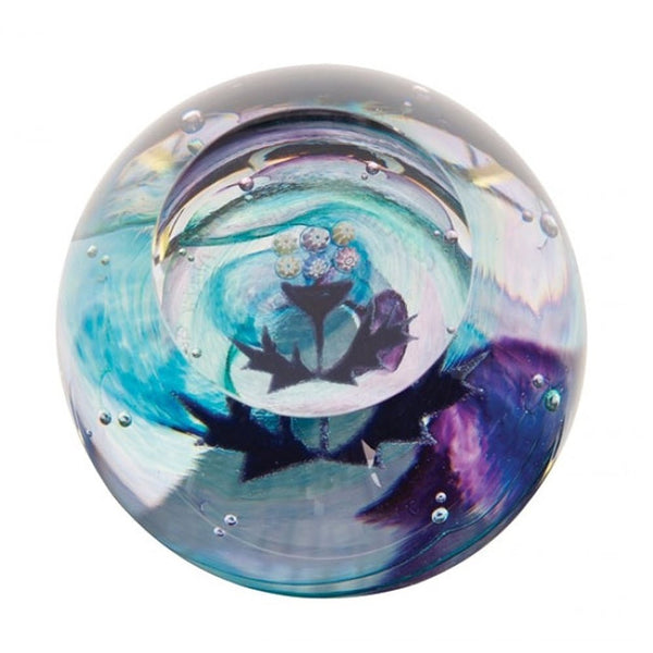 Caithness Glass Mini Thistle Paperweight 65mm x 65mm
