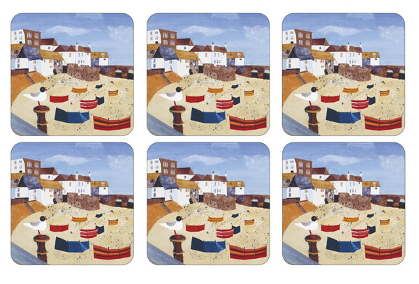 Pimpernel St Ives Windbreak Coasters 10.5cm By 10.5cm (Set Of 6)