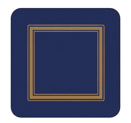 Pimpernel Classic Midnight Coasters 10.5cm By 10.5cm (Set Of 6)