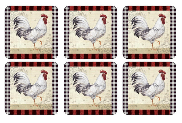 Pimpernel Country Touch Coasters 10.5cm By 10.5cm (Set Of 6)