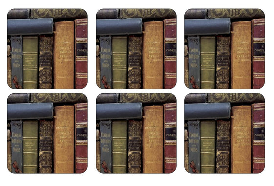 Pimpernel Archive Books Coasters 10.5cm By 10.5cm (Set Of 6)