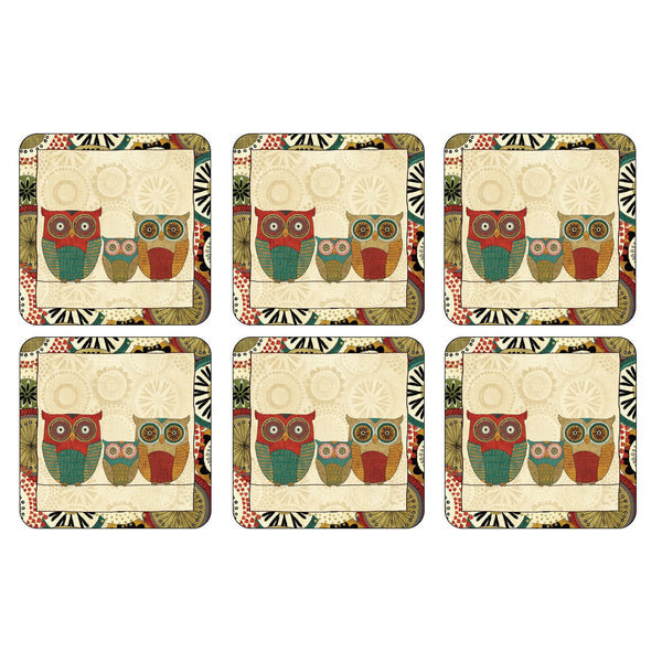Pimpernel Spice Road Coasters 10.5cm By 10.5cm (Set Of 6)