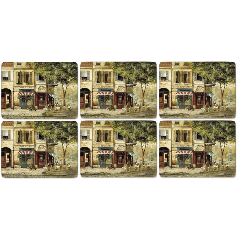 Pimpernel Parisian Scenes Placemats 30.5cm By 23cm (Set Of 6)