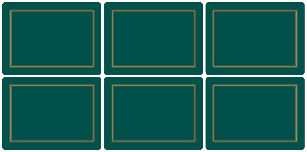 Pimpernel Classic Emerald Placemats 30.5cm By 23cm (Set Of 6)
