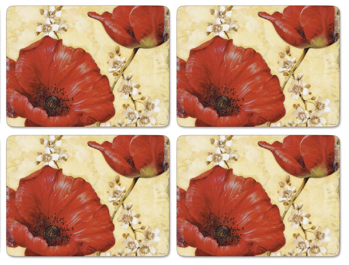 Pimpernel Poppy De Villeneuve Placemats 40.1cm By 29.8cm (Set Of 4)