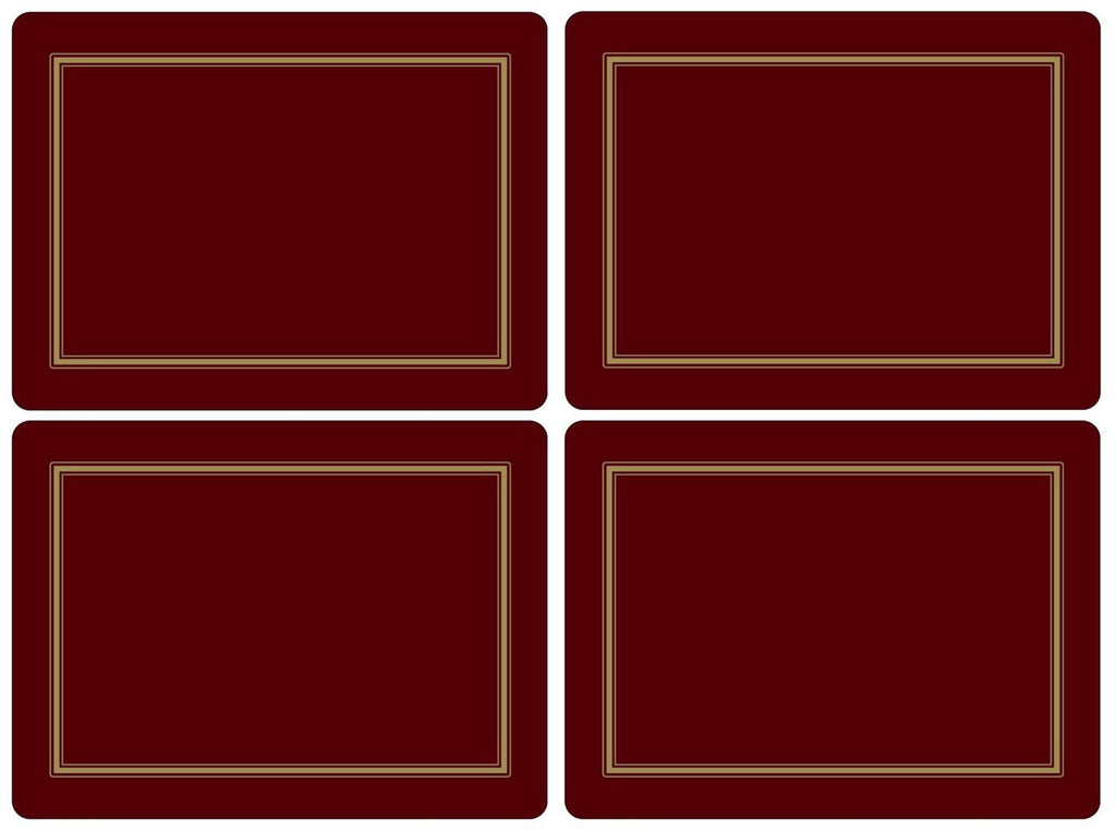 Pimpernel Classic Burgundy Placemats 40.1cm By 29.8cm (Set Of 4)