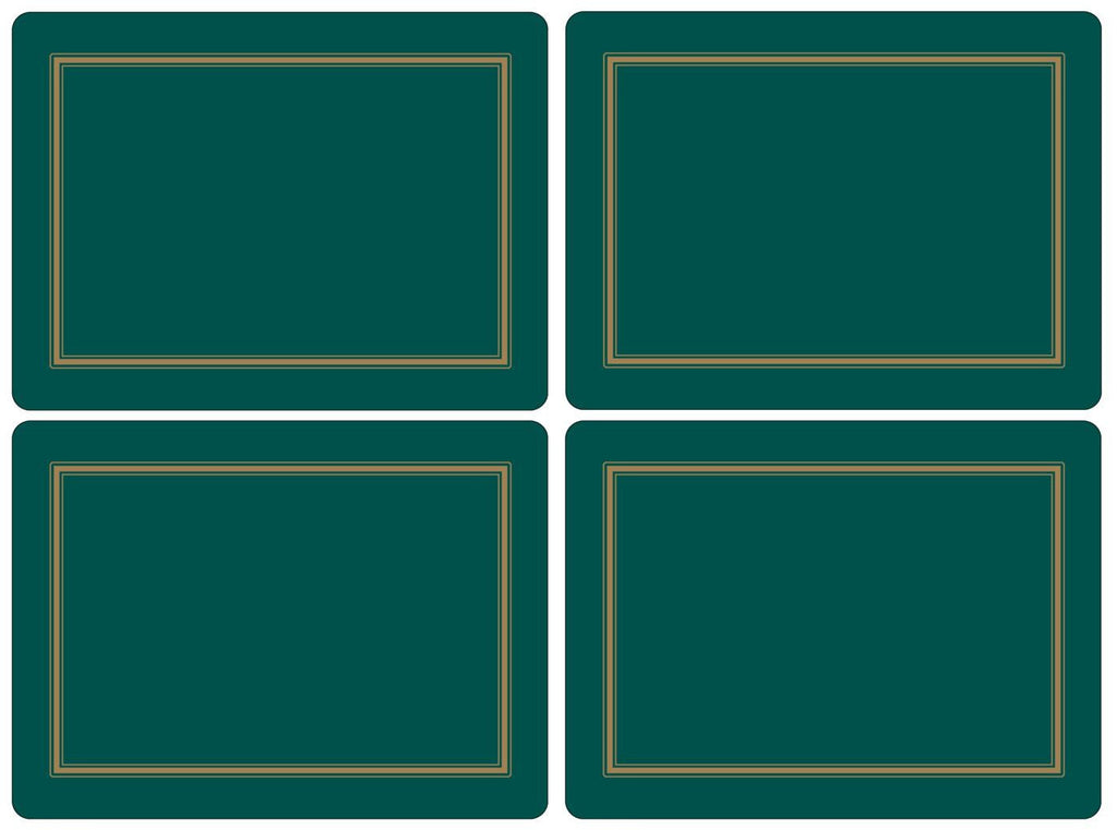 Pimpernel Classic Emerald Placemats 40.1cm By 29.8cm (Set Of 4)