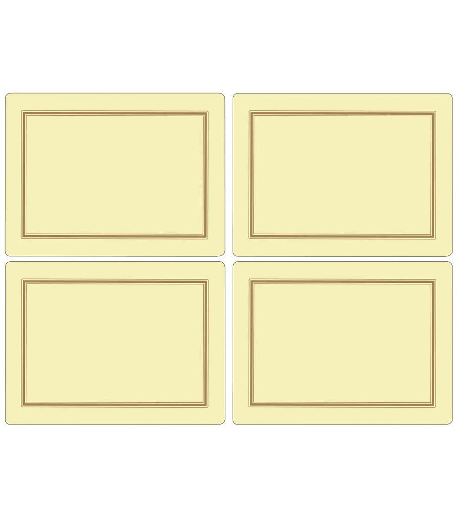 Pimpernel Classic Cream Placemats 40.1cm By 29.8cm (Set Of 4)