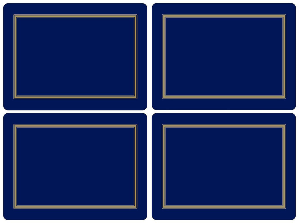 Pimpernel Classic Midnight Placemats 40.1cm By 29.8cm (Set Of 4)