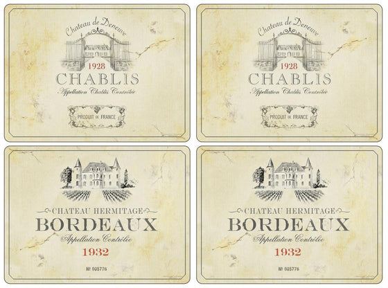 Pimpernel Vin De France Placemats 40.1cm By 29.8cm (Set Of 4)