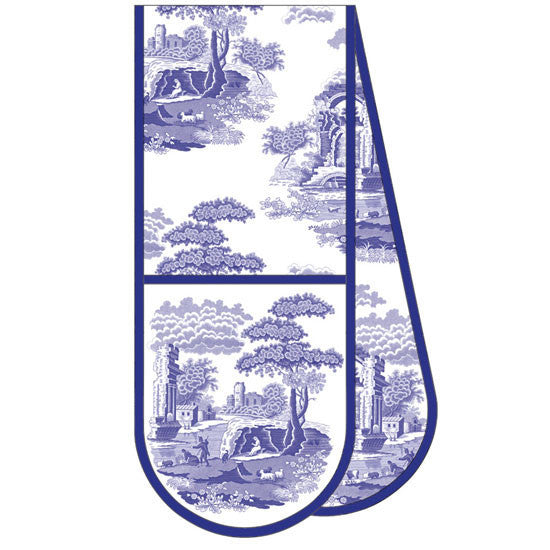 Spode Blue Italian Double Oven Glove 18cm by 88cm
