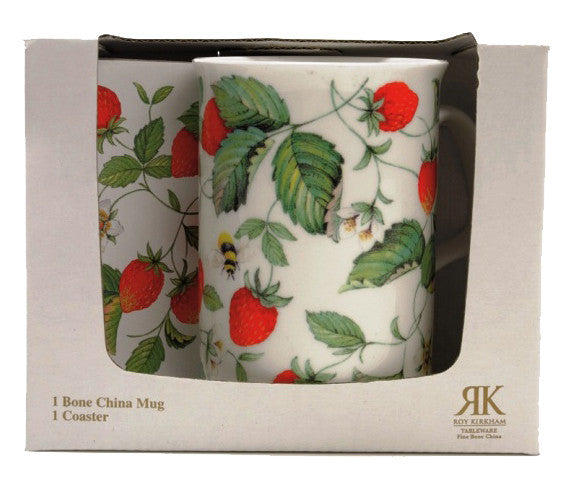 Roy Kirkham Alpine Strawberry Mug and Coaster Set