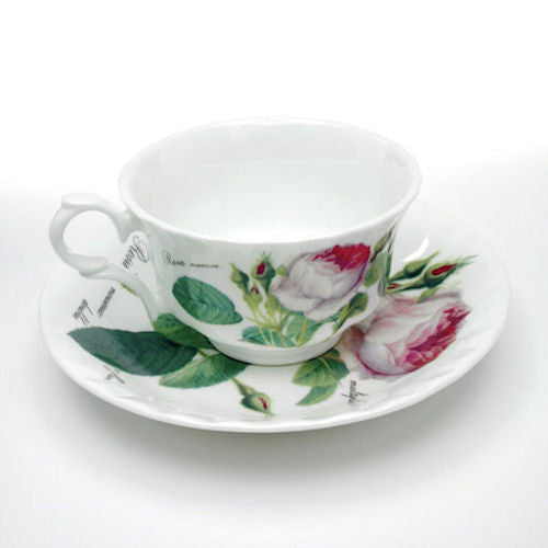 Roy Kirkham Redoute Rose Low Teacup and Saucer